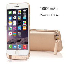 Wholesale Extended Cases - For iphone 6 6S Backup Power Case External Battery Charger Case Fashion Power Pack Multi Function Chosable Color Extended USB Port