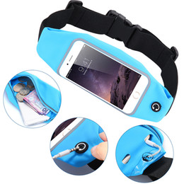 Wholesale Hockey Phone Cases - Sports waistpacks personality Waterproof waistline package ourdoor fitness exercise running travel pockets keys phone case bags purse gift