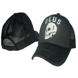 Wholesale Skull Print Hat - Men and Women Ball Caps Sunscreen Net Breathable Hats Fashion Skateboarding or Running Cap Print Skull Letter Adjustable