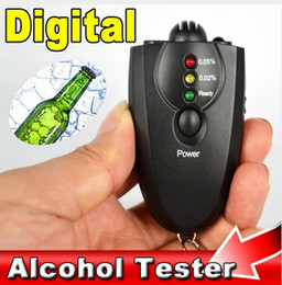 Wholesale Keychain Breathalyzer Wholesale - AD09 Keychain breathalyzer Alcohol tester alcohol testing the Breath Digital Analyzer LCD light alcohol Analyzer For Driver