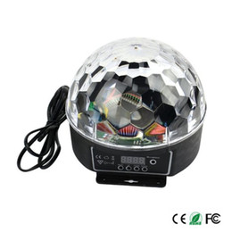 Wholesale Crystal Ball Effect Light - Wholesale- Newest Digital 20W AC85-265V LED RGB Crystal Magic Ball Effect Light Disco DJ Stage Lighting Lamp Free shipping
