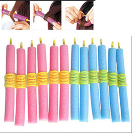 Wholesale Soft Bendy Foam Curlers - 12PCS Soft Twist Soft Foam Bendy Hair Rollers Curlers Cling Strip R