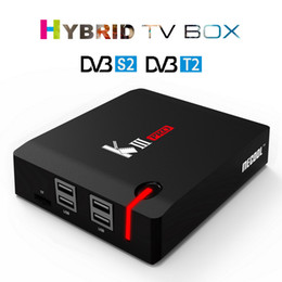 Wholesale Dvb C Box - MECOOL KIII PRO DVB-S2 T2 C Android 6.0 TV Box 3GB 16GB Amlogic S912 Octa Core 2.4G+5G Dual Band WiFi BT 4.0 1000M Media Player Hybrid