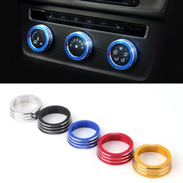 Wholesale Air Conditioning Switch - 2016 New Car Styling Chromium 3PCS SET Air Conditioning Heat Control Switch knob AC Knob Case For Volkswagen Golf 7 HXY0158
