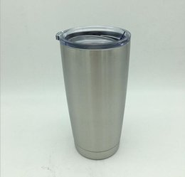 Wholesale Double Walled Tumbler Stainless - HOT SALE 304 Stainless Steel 20oz Cups Cooler Tumbler Cup Vehicle Beer Mug Double Wall Bilayer Vacuum Insulated DHL free