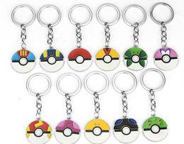 Wholesale Finish Order - 12 Styles Cartoon Pocket Pikachu Action Figures Poke Ball Anime Keychain Keyring Pendant Min Order 35 Pieces Free Shipping