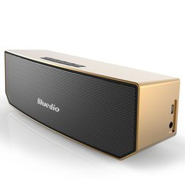 Wholesale Portable Usb Driver - Bluedio BS-3 Portable Bluetooth speaker wireless Subwoofer Soundbar Revolution Magnetic driver 3D stereo music with retail box