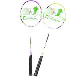 Wholesale High Carbon Rod - FANGCAN High Quality Entry Level Full Carbon Head Light Defensive 20-24LBS 3U Badminton Racket with String