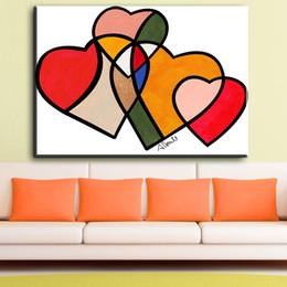 Toptan Satın Alış 2019 Tuval Sanat Kalp çinden On Line Tuval Sanat