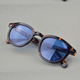 Óculos de sol de festa de design on-line-Jackjad nova moda johnny depp lemtosh estilo rodada óculos de sol matiz oceano lente design da marca show de festa óculos de sol oculos de sol