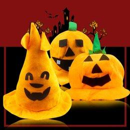 Wholesale Winter Clothes Fashion Show - Halloween wholesale pumpkin hat, show clothing hat