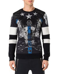 Wholesale Large Mens Coats Jacket - Mens Cotton Coats Outerwear 2017 Winter Long Sleeve Shirts Black Mens Jackets Ink Large Skulls & Diamonds 3D Printed Jackets hoodies 18644