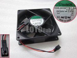 Wholesale Sunon Dc Fan - Free Shipping For SUNON KDE2409PTB1-6A 318.GN Server Square Fan DC 24V 3.6W 92x92x25mm 2-Pin