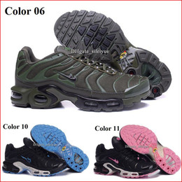 Wholesale Casual Discount Shoes - Discount Womens Sneakers Classic Tn Women Running Shoes Black Red White Sports Trainer Air Cushion Woman Surface Breathable Casual Shoes
