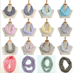 Wholesale Circles Scarf - Infinity Scarf Wave Print Circle Loop Infinity Scarves Ladies Scarves Multi color printing woven scarf Circle Loop KKA3315