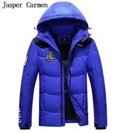 Wholesale Waterproof Jacket Wadded - Wholesale- Free shipping 2017 Winter Men Medium Long Style Hooded Down jacket Coat Thickened Windproof Waterproof wadded coat 200hfx