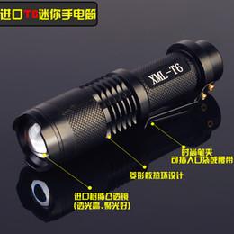 Wholesale Led Flashlights Imported - Imported CREE Q5   T6 LED mini flashlight long-range zoom rechargeable SK68 98 Super S5