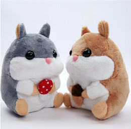Wholesale Hamster Cat - Wholesale- high quality 1pcs 20cm cute plush toy Amuse soft hamster stuffed doll little Hamsters plush toy for children best gifts