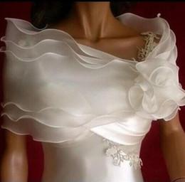 Wholesale wraps shawls weddings - 2016 Pinterest Popular Bridal Wraps And Jackets Bride accessories For Wedding Event White Organza Vintage Items Cheap Wraps