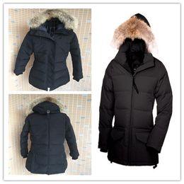 Wholesale Genuine Leather Sleeve - 2017 hot sale Women's Trillium Parka goose down jacket Coat Fu Winter thick cotton padded jacket cotton women jacket white collar cap