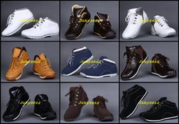 Wholesale Cheap Low Heeled Boots - Cheap Low Mens Wheat Ankle Boots Men Waterproof Work Hiking Shoes For Outdoor Winter Snow Multi Colors Good Quality Casual Sneakers