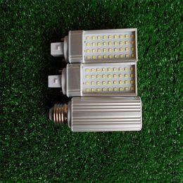Wholesale Led Pl Downlight - G24 LED pl lamp 7w AC 85-265V LED downlight bulb lamp light SMD2835 bright warm white white Nature white