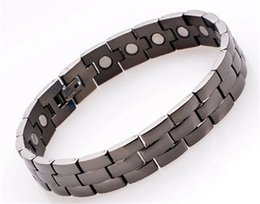 Wholesale Magnetic Clasps China - DFJ019 Best quality from china 316L stainless steel men's health magnetic energy bracelets 4 in 1 inlay factory wholesale