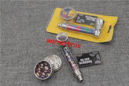 Wholesale Grinder Hand Muller - 12pcs lot free shipping to USA herb smoking pipe tobacco herb metal grinder kit cigarette metal pipes smoke gift gadget hand muller 2 layers