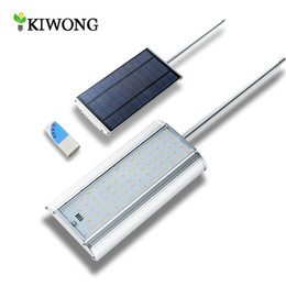 Wholesale Solar Lamp Controllers - Wholesale- Upgarded 70 LED Solar Light With Radar Motion Sensor Three Working Modes Waterproof Garden Lights Lamp With Remote Controller