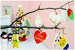 Canada Carte de papier de bénédiction de voeux de Noël suspendus dans des décorations d'ornement d'arbre de Noël Home Festival accrochant le cadeau d'enfant d'enfants, 14 PC par sac Offre