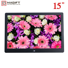"""Wholesale Alarm Ads - 15"""" HD 15inch TFT-LCD 1280*800 Digital Photo Frame Picture Album Clock MP3 MP4 Movie AD Player with Remote Desktop for AD Menu"""