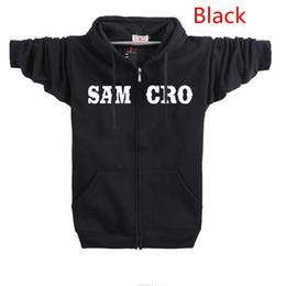 Wholesale Hip Hop Mens Sweaters - 2016 American TV Series Mens hoodies street hoodies SON OF ANARCHY cotton sports sweatshirts sweater hoodies hip hop hoodies with velvet