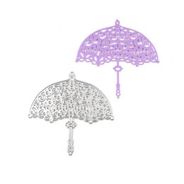 Wholesale Scrapbook Christmas - 1 PC Lovely Umbrella Metal Cutting Dies for DIY Scrapbook Photo Album Paper Card Creation Decor Embossing Folder Paper for Christmas Gifts