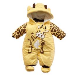 Wholesale Down Coat Romper - 2017 Winter Baby Rompers Boy Girl Coat Parkas Suit Next Children Clothing Romper Newborn Kids Clothes Layette Down Jumpsuit Set