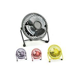 Wholesale Smallest Electric Fans - ALKcar Metal Usb mini electric fan portable for laptop pc computer with key switch silent usb fan Small mini electric fans