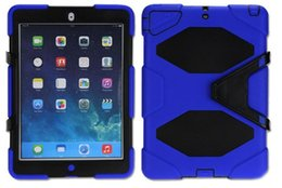 Wholesale Military Duty Hybrid Iphone - Military Extreme Heavy Duty WATERPROOF DEFENDER CASE Cover For iPad Mini Air Pro 2 3 4 5 STAND Holder Hybrid SHOCKPROOF Cases