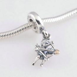 Canada En gros ange charmes coeur S925 sterling silver correspond à Pandora style bracelet livraison gratuite 14 K plaqué or LW345 cheap pandora 14k gold bracelet wholesale Offre