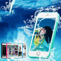 Wholesale Lg Shockproof Waterproof Phone - 360 Degree Protected Waterproof Radiating Phone Case Cover For iPhone 7 For iPhone 7 Plus Shockproof TPU+PC Underwater Diving Cases