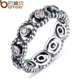 Wholesale Romance Rings - Authentic 100% 925 Sterling Silver LOVE ROMANCE Ring with Clear Crystal Stamp S925 Compatible With Jewelry PA7101