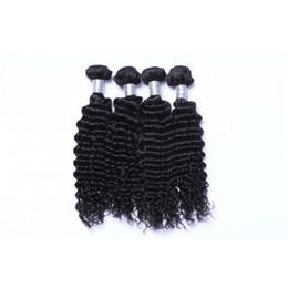 Wholesale Brazilian Virgin Hair Uk - Grade 10A Deep Wave Human Hair Bundles with Closure Cheap Brazilian Full Head Hair Extensions Human Hair Weaves UK 3 Pieces lot