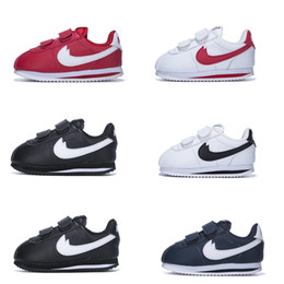 Wholesale Lace Up Toddler Shoes Girls - Infant & Children Cortez running shoes Leather Kids outdoor Sports trainer toddler athletic boy & girl sneaker size 22-35