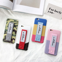 Wholesale Apple Canvas - For iphone7 6 plus Candy Colorful Canvas Belt Silicone Case Smooth Shell Back Cover Cases For iphone 7 6s 6plus