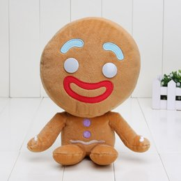 Wholesale Packing Bags Big - Shrek Big size plush toy gingerbread man plush toys doll childrens' gifts approx 24cm packed in opp bag