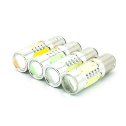 Wholesale Replace Car Light Bulb - 7.5W LED COB 1157 Bay15d S25 P21W Backup Reverse Light Turn Signal Lights Replace Halogen Lamp car styling New High quality