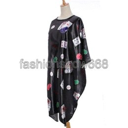 Wholesale Hair Salon Gowns - 2014 1 Pcs Poker Printed Cloth Salon Hairdressing Hairdresser Hair Cut Cutting Gown Barbers Cape Waterproof Wrap