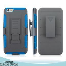 Wholesale Smartphone Case Cover Silicone - Hybrid PC + Silicone Smartphone Case   BACK Cover FOR IPHONE 6 plus 3-in-1 Robot Phone Case Wholesale VSbolt cover armor case