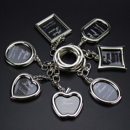 Wholesale Gallery Photos - Frame key button creative metal mini frame key button big head photo gallery activities small gift