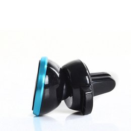 Wholesale Hand Mobile Phone Holder - Magnetic Car Cell Mobile Smart Phone Holder Mini Air Vent Mount Hand free Magnet For Cellphone iPhone Samsung gift box free ship