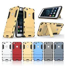 2019 caso y5 Caixa do telefone para huawei p8 p9 p10 lite p9 p10 além de honra 9 y5 y3 pc + tpu capa protetora armadura defensor shell homem de ferro casos de design GSZ374 desconto caso y5