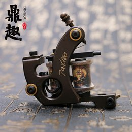 Wholesale Copper Coil Sales - HOT SALE! Band New Handemade Mini Tattoo Pure Copper Gun Liner Tattoo Supply Machine TM451 Free Shipping